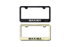 Maxima Polished Stainless Steel License Plate Frame image for your 2016 Nissan Maxima