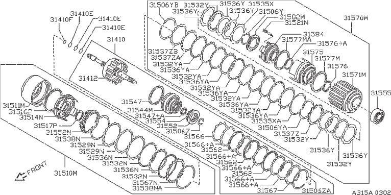31666-80x00 - Plate Driven  Low  Reverse  Clutch