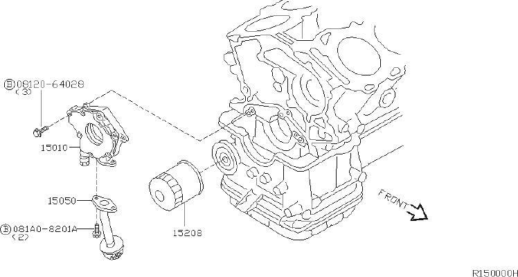 15050-31u0a - Engine Oil Pump Pickup Tube  System