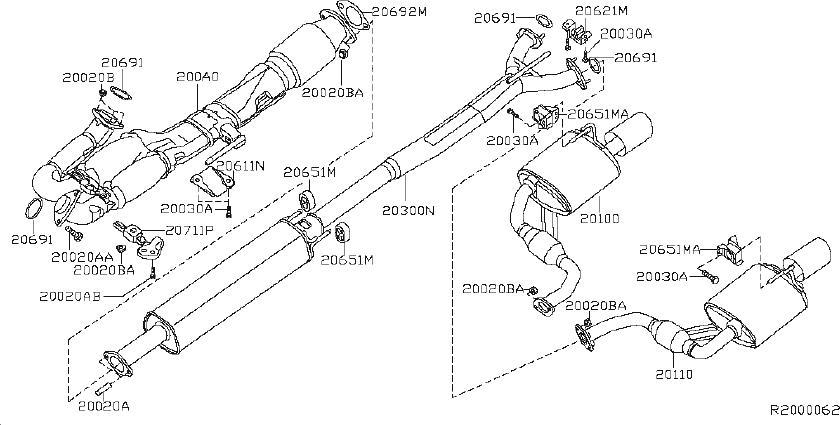 Nissan Maxima Exhaust System Hanger