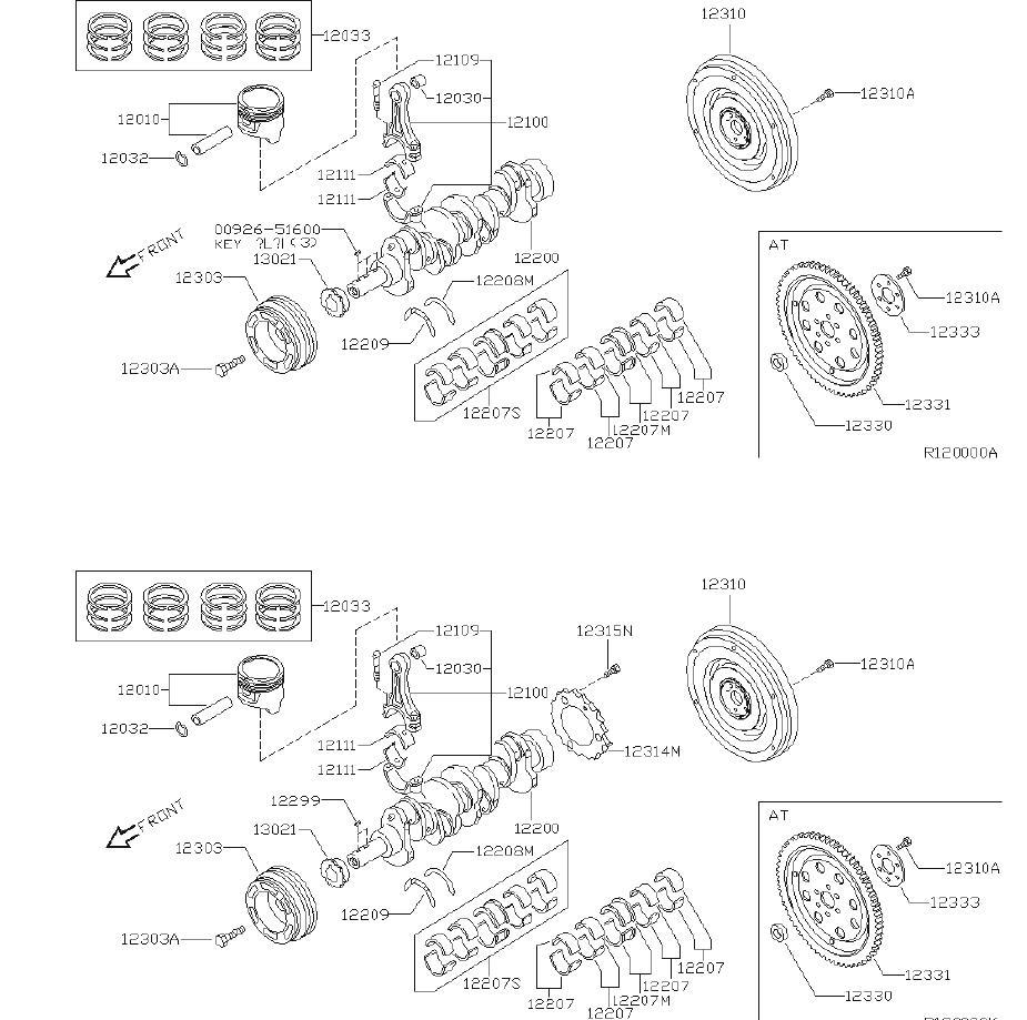 12033-ae003 - Engine Piston Ring  Illustration