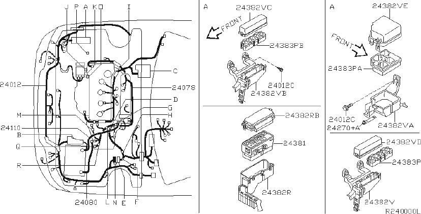 Nissan Sentra Harness Door   Right  Front   Fitting  Room