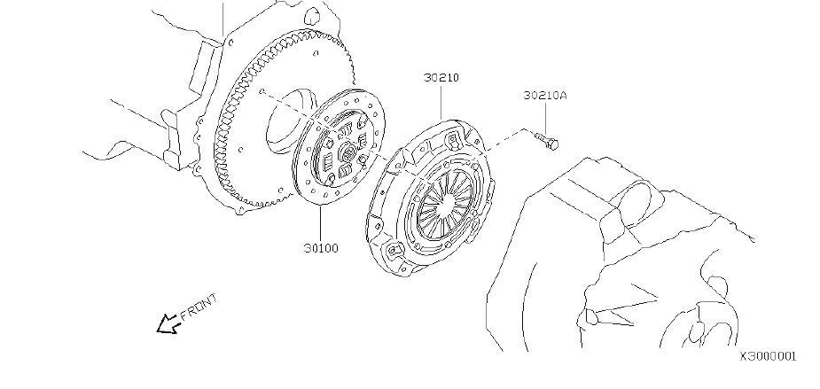 30210-4Z300 - Clutch Pressure Plate - Genuine Nissan Part