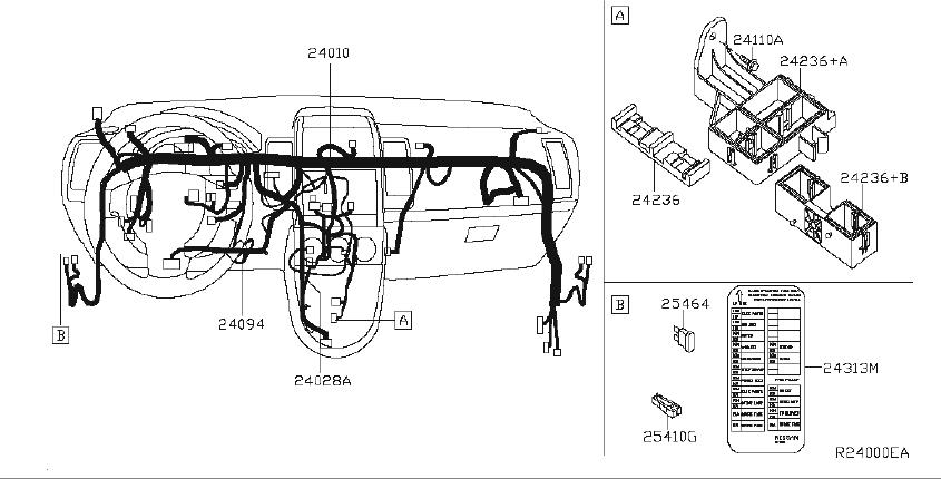 2012 Nissan Sentra Harness Tail  Engine  Body  Room