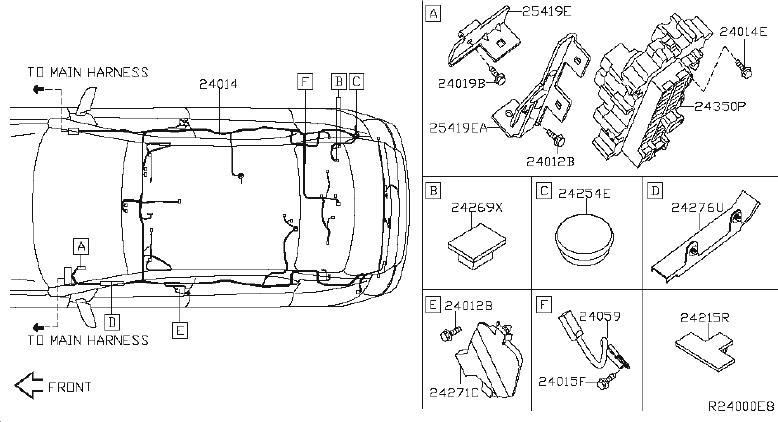 Nissan Sentra Junction Block  Harness  Room  Engine