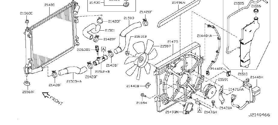 21483-3ym0a - Engine Cooling Fan Shroud  Fitting  Radiator