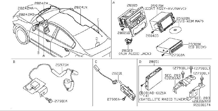 Nissan Altima Cover Antenna Base  Audio  Unit