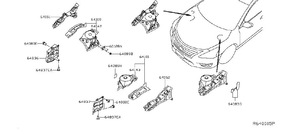 64839-3ta0a - Fender Splash Shield  Left