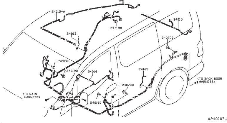 Nissan Nv200 Harness Main  Body  Engine  Room