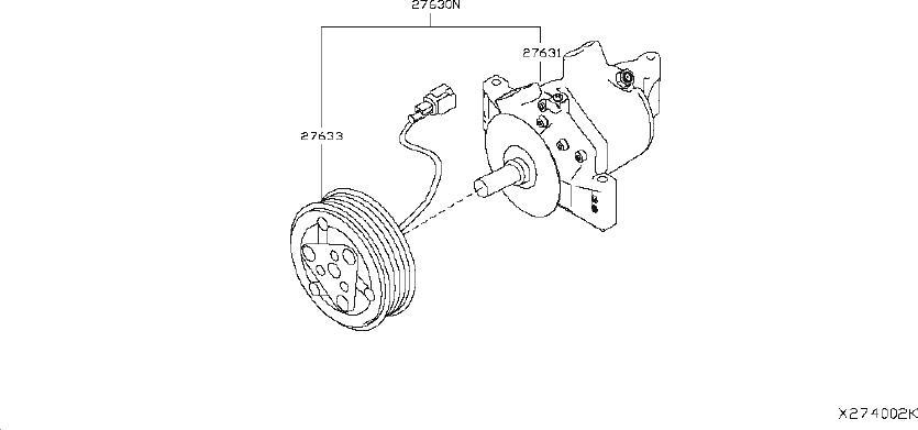 92660-3vb0c - A  C Compressor Clutch  Comressor