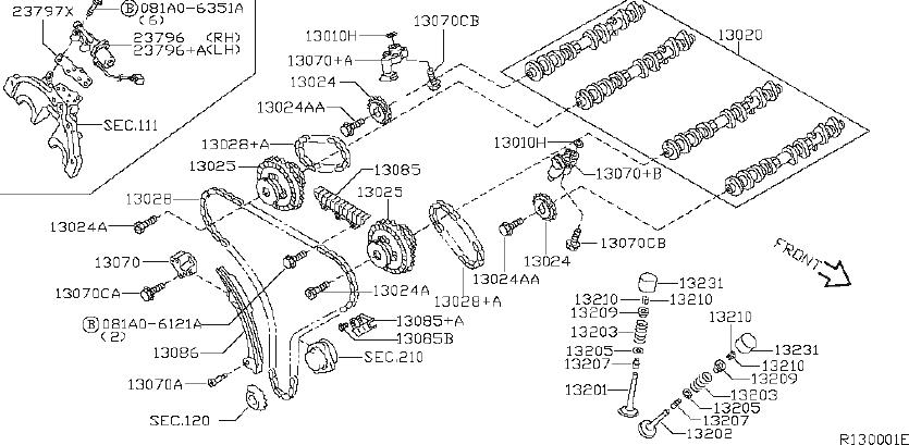 Nissan Xterra Engine Timing Chain  Mechanism  Camshaft