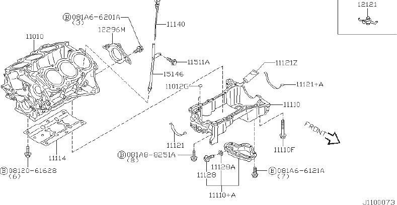 2003 Nissan Pathfinder Engine Expansion Plug
