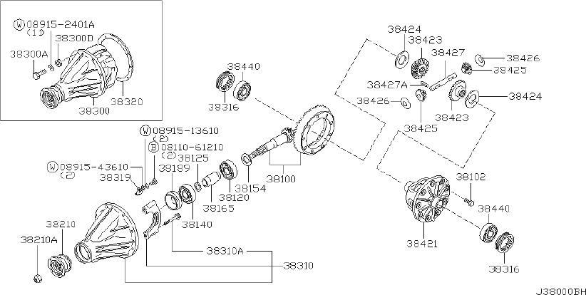 Datsun Pickup Spacer Bearing  Drive Pinion  Lsd  Select