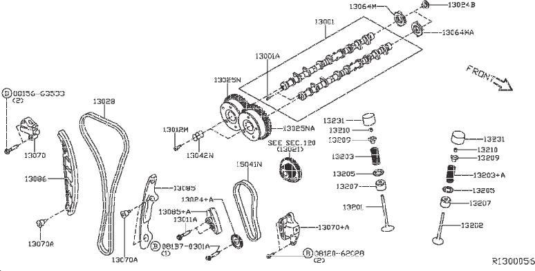 Nissan Pathfinder Engine Intake Valve  Camshaft  Mechanism