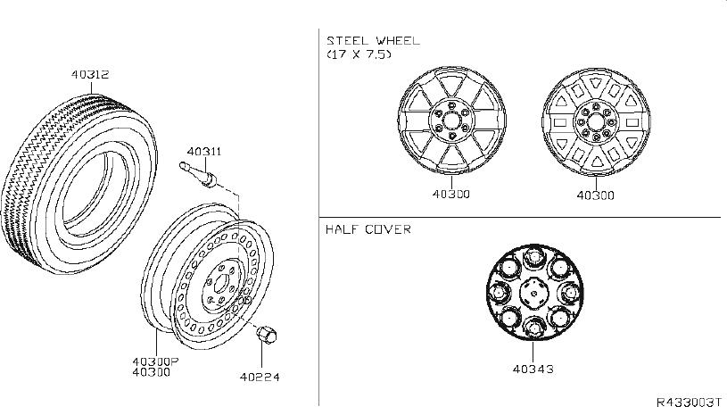 40224-1pa0a - Wheel Lug Nut
