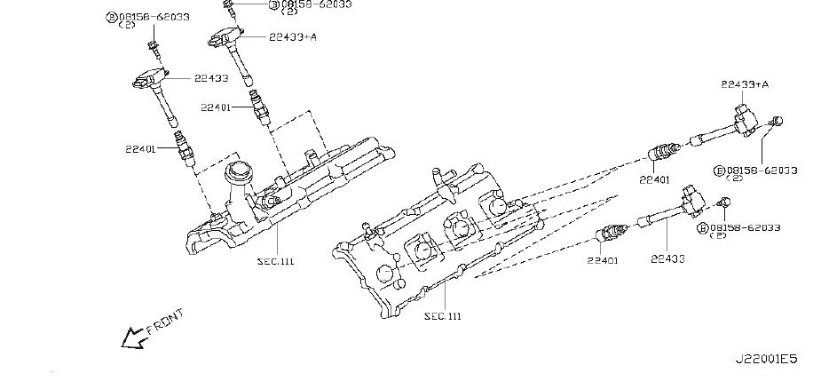 22448-1LA0A - Direct Ignition Coil. SYSTEM - Genuine ...