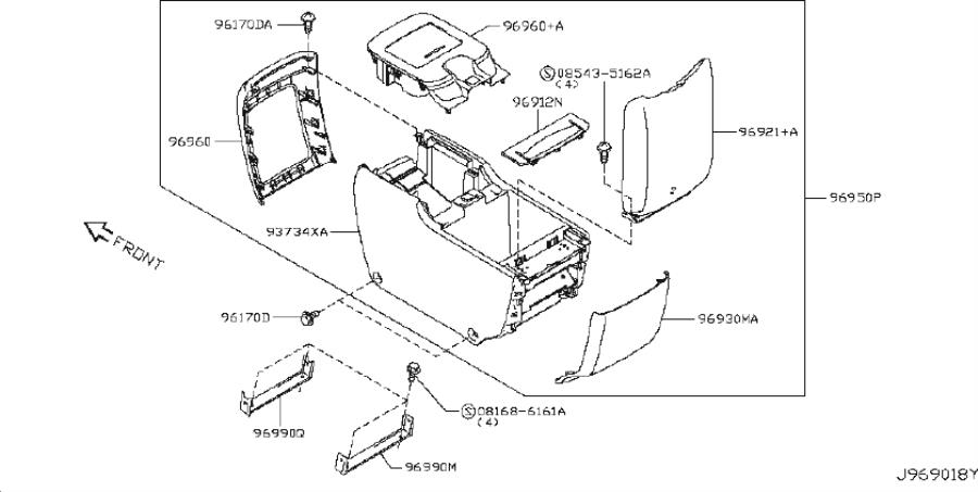 Diagram CONSOLE BOX for your Nissan