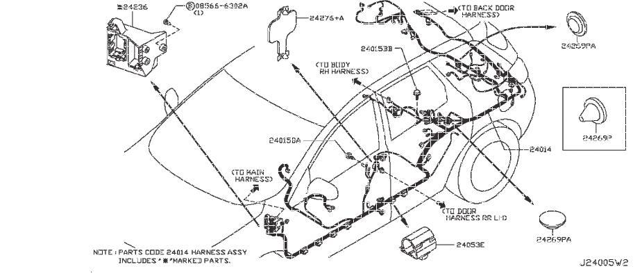 Nissan Murano Harness Main  Other - 24010-1sx0b