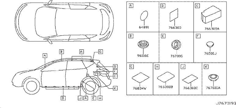 Nissan Murano Srs Product  Insulator  Wag  Plug  Mudguard